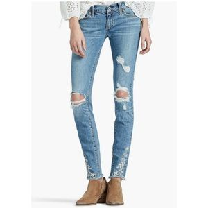 Lucky Brand Charlie Skinny Embroidered Jeans